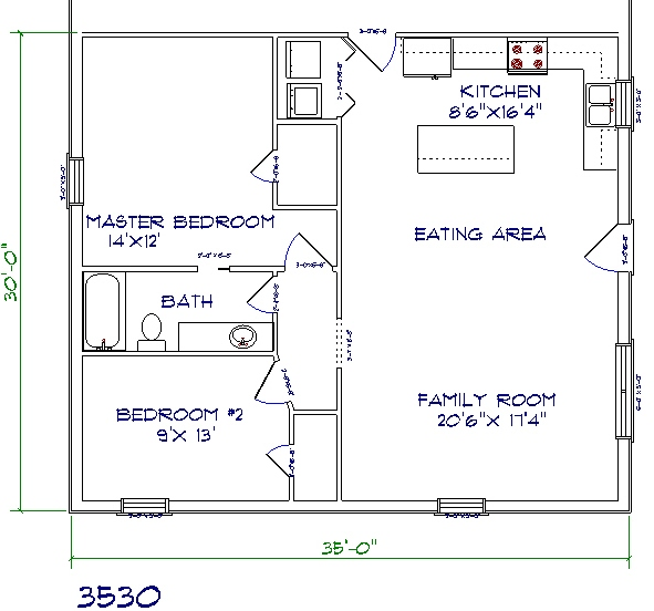 Barndominium floor plans for Small house plans texas