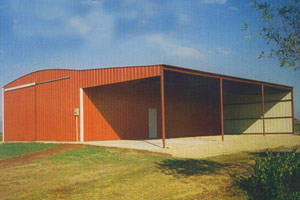 40 X 60 14 With A 24 Lean To Above Is An End Wall The Front Of This Building Includes Sliding Door